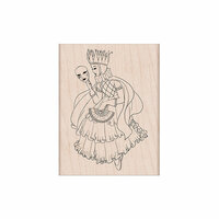 Hero Arts - Woodblock - Wood Mounted Stamps - Venetian Maiden