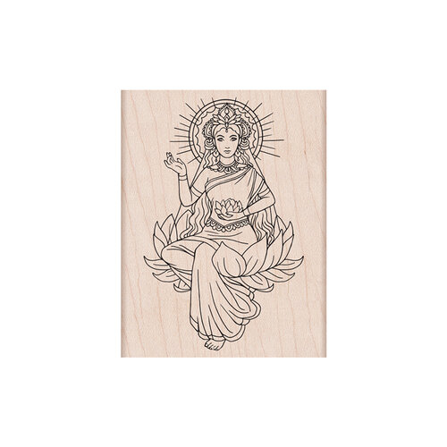 Hero Arts - Woodblock - Wood Mounted Stamps - Lotus Lady