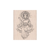 Hero Arts - Woodblock - Wood Mounted Stamps - Lotus Lady