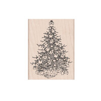 Hero Arts - From the Vault - Woodblock - Wood Mounted Stamp - Christmas Tree