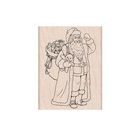 Hero Arts - Christmas - Wood Mounted Stamps - Santa Bearing Gifts