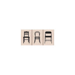 Hero Arts - Woodblock - Wood Mounted Stamps - Three Small Chairs