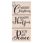 Hero Arts - Woodblock - Christmas - Wood Mounted Stamps - Joy and Peace