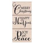 Hero Arts - Woodblock - Christmas - Wood Mounted Stamps - Joy and Peace