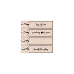 Hero Arts - Woodblock - Wood Mounted Stamps - Heartfelt Wishes