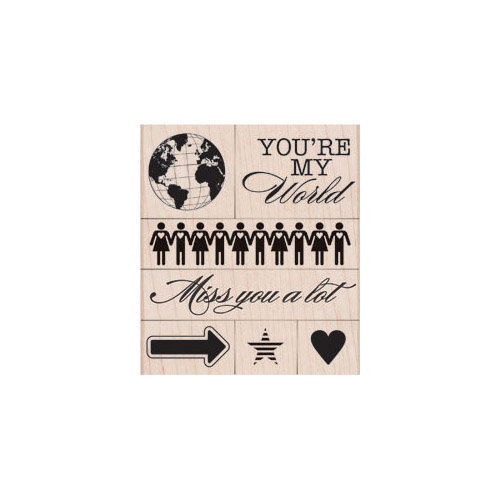 Hero Arts - Operation Write Home - Woodblock - Wood Mounted Stamps - You're My World