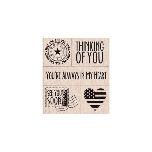 Hero Arts - Operation Write Home - Woodblock - Wood Mounted Stamps - You're Always In My Heart