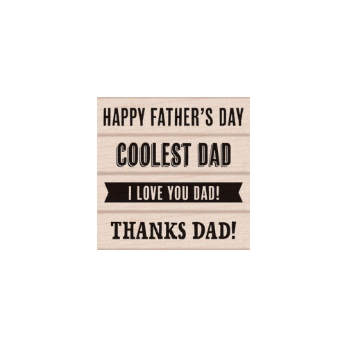 Hero Arts - Woodblock - Wood Mounted Stamps - Father's Day