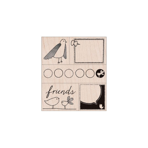 Hero Arts - Stamp Your Story Collection - Woodblock - Wood Mounted Stamps - Friendly Birds
