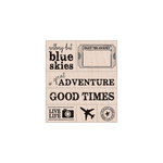 Hero Arts - Stamp Your Story Collection - Woodblock - Wood Mounted Stamps - A Great Adventure