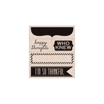 Hero Arts - Stamp Your Story Collection - Woodblock - Wood Mounted Stamps - Happy Thoughts