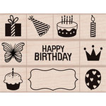 Hero Arts - Wood Block - Wood Mounted Stamp - Birthday
