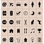 Hero Arts - Kelly Purkey Collection - Woodblock - Wood Mounted Stamps - Planner Icons