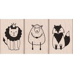 Hero Arts - Baby Collection - Woodblock - Wood Mounted Stamps - Cute Animal Trio