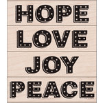 Hero Arts - Christmas - Woodblock - Wood Mounted Stamps - Bold Marquee Words