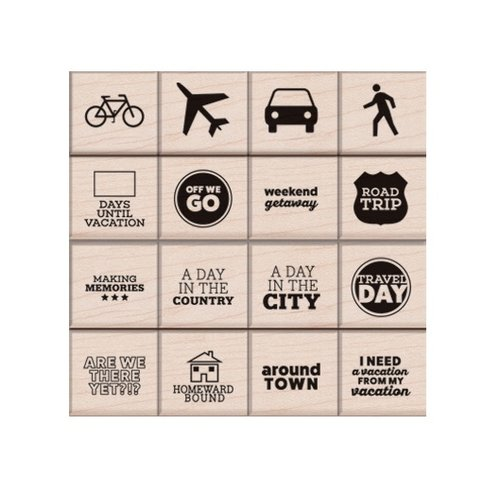 Hero Arts - Kelly Purkey Collection - Woodblock - Wood Mounted Stamps - Travel Day