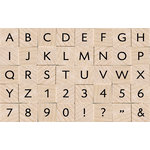 Hero Arts - Everyday Collection - Woodblock - Wood Mounted Stamps - Essential Uppercase Letters and Numbers