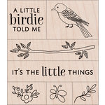 Hero Arts - Critters Collection - Woodblock - Wood Mounted Stamps - A Little Birdie