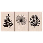 Hero Arts - Tropical Collection - Woodblock - Wood Mounted Stamps - Tropical Leaves