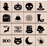 Hero Arts - Fall Collection - Woodblock - Wood Mounted Stamps - Halloween Icons