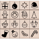 Hero Arts - Christmas - Woodblock - Wood Mounted Stamps - Holiday Icons