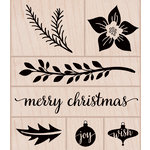 Hero Arts - Woodblock - Wood Mounted Stamps - Christmas Time Trimmings