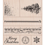 Hero Arts - Christmas - Woodblock - Wood Mounted Stamps - Vintage Peace On Earth