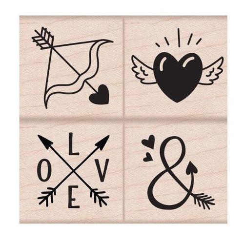 Hero Arts - Woodblock - Wood Mounted Stamps - Love Tattoos