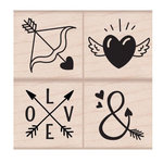 Hero Arts - Woodblock - Wood Mounted Stamps - Love Tattoos