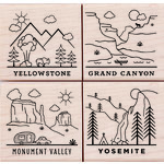 Hero Arts - Woodblock - Wood Mounted Stamps - National Parks Poetic Prints