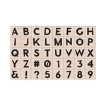 Hero Arts - Woodblock - Wood Mounted Stamps - Modern Uppercase Letters and Numbers
