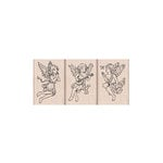 Hero Arts- Season of Wonder Collection - Woodblock - Wood Mounted Stamps - Angel Trio