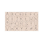 Hero Arts - Wood Mounted Stamp Set - Modern Dot Alphabet