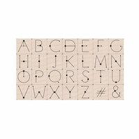 Hero Arts - Wood Mounted Stamp Set - Modern Dot Alphabet