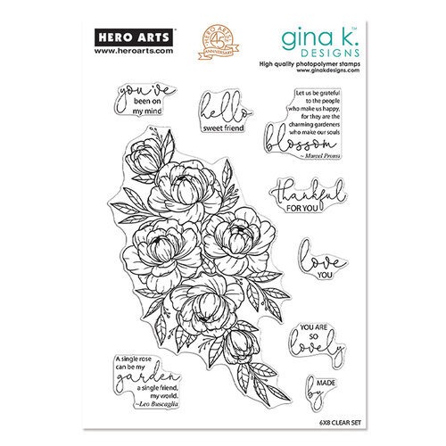 Hero Arts - Gina K - Clear Photopolymer Stamps - Friendship Blooms