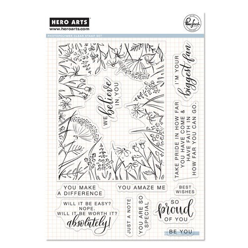 Hero Arts - Pinkfresh Studio - Clear Photopolymer Stamps - You Make A Difference