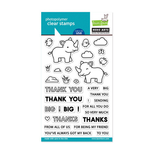 Hero Arts - Lawn Fawn - Clear Photopolymer Stamps - Big Thanks