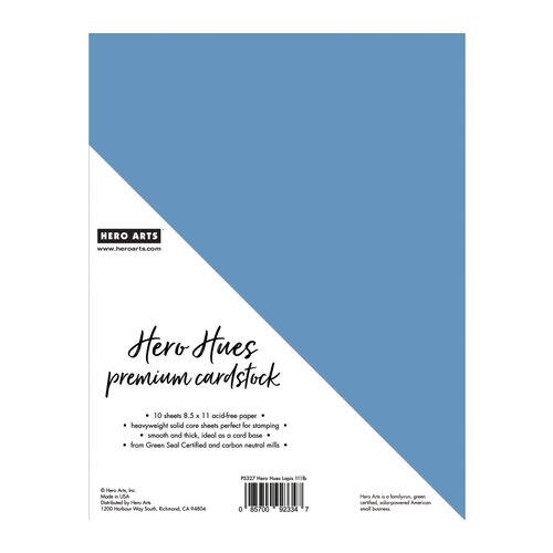 Hero Arts - Hero Hues - Premium Cardstock - 8.5 x 11 - Lapis - 10 Pack