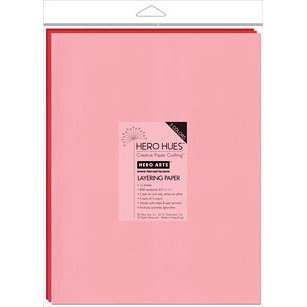 Hero Arts - Hero Hues - 8.5 x 11 Layering Paper - Blush Mix