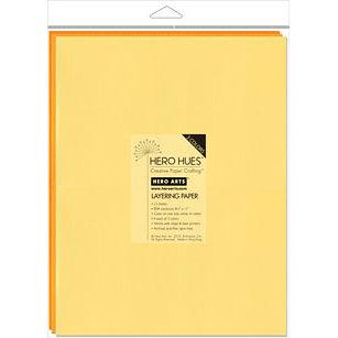 Hero Arts - Hero Hues - 8.5 x 11 Layering Paper - Sunshine Mix