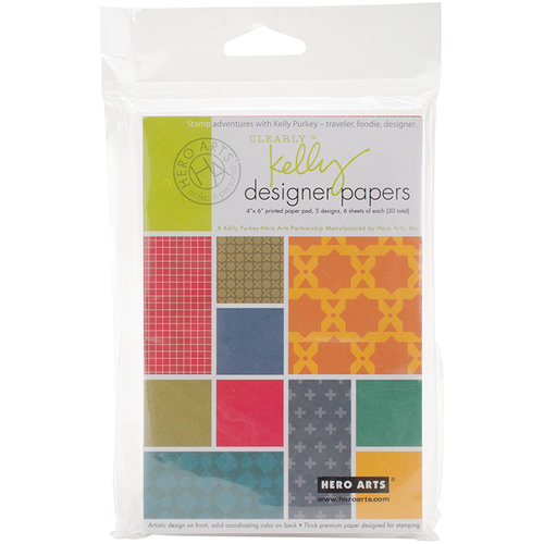 Hero Arts - Kelly Purkey Collection - 4 x 6 Paper Pad - Designer
