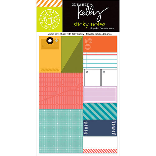 Hero Arts - Kelly Purkey Collection - 4 x 6 Paper Pad - Sticky Notes - Everyday