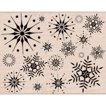 Hero Arts - Woodblock - Christmas - Wood Mounted Stamps - Stunning Snowflakes