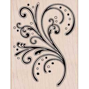 Hero Arts - Woodblock - Wood Mounted Stamps - Bold Flourish