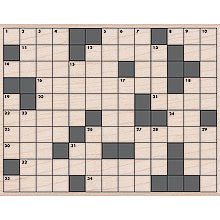 Hero Arts - Woodblock - Wood Mounted Stamps - Crossword Background