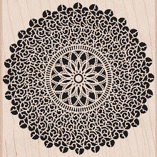 Hero Arts - Woodblock - Wood Mounted Stamps - Starburst Lace