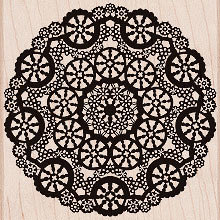 Hero Arts - Woodblock - Wood Mounted Stamps - Circle Lace