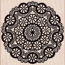 Hero Arts - Woodblock - Wood Mounted Stamps - Circle Lace