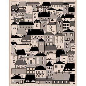 Hero Arts - Woodblock - Wood Mounted Stamps - A Village