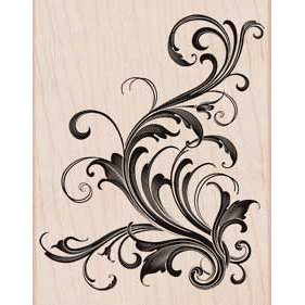 Hero Arts - Woodblock - Wood Mounted Stamps - Fabulous Flourish